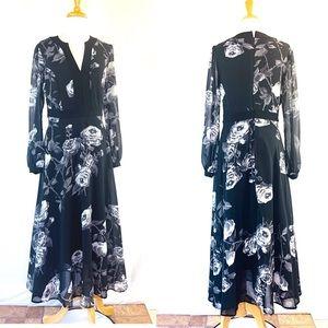 Sheryl Crow Maxi Floral Dress Boho V neck Sz 2